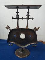 Pap Zoltán bronz gyertyatartó 28 cm