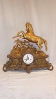 Antik kandalló óra ló szoborral