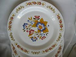 4 db tejüveg virágos tányér egyben