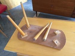 Retro bútor láb asztal polc komód szekrény