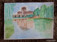 Akvarell festmény