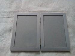 Asztali  páros  képkeret (fényképtartó) ezüst színben