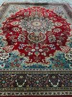 Gyönyörű gyapjú perzsa szőnyeg 392x300-cm