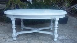 Provence tölgy ovális dohányzó asztal