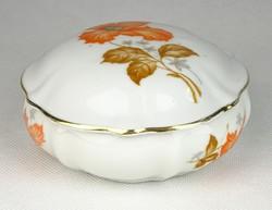 0T131 Régi Drasche porcelán bonbonier ékszertartó