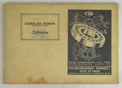 0T217 Malomipari Darálási könyv 1943