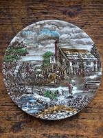 Vintage angol fajansz Wood & Sons lapos tányér