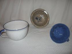 Sütőforma - 3 db  kerámia - Osztrák kézműves 2 kuglóf forma -  óriás csésze - fél liter