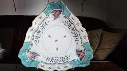 Herendi Tupini Corne d' Abondance háromszög alakú porcelán köretes tál
