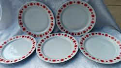 5 db Alföldi lapos tányér