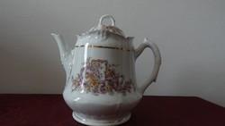 Antik porcelán teás kancsó fedeles