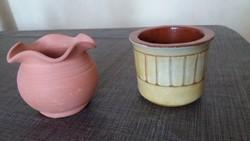 2db. Kis kerámia cserép kaspó vagy váza