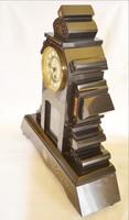 Kandalló óra márvány 50 fekete aranyozott bevésett klasszicizáló motívumokkal