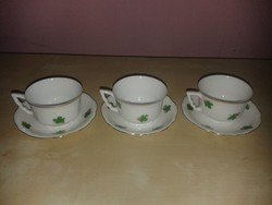 Zsolnay manófüles kávés csészék, 3 db