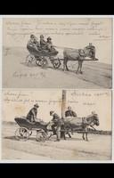 Tréfás képeslap-sorozat, 5 darab, 1905