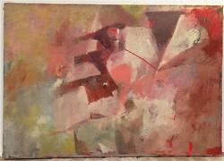 Viski Balás László ( 1909-1964) Balatonpart:c. olajfestménye 100x70 cm Eredeti Garanciával!!
