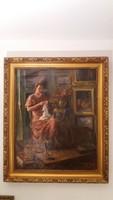 Varró Hölgy - Alkotó : Vasadi Weigl H. - ( A festmény 1933 -ban készült )