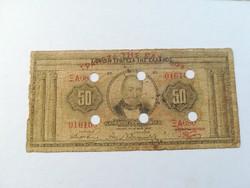 1927-es 50 Drachma ÉRVÉNYTELENÍTETT + fb RRR!