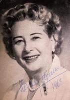 HONTHY HANNA PRIMADONNA FELEJTHETETLEN SZINÉSZNŐ HÜGEL HAJNALKA RITKA 1961 FOTÓLAP ALÁÍRT DEDIKÁLT