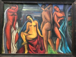 Csángó festmény / feltételezhetően Jándi Dávid alkotás