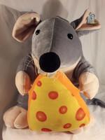 Jelzett Stelly óriás egér egérke sajttal 40 cm plüss ballagásra cukiság