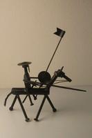 Don Quijote vas szobor, egyedi iparművész munka