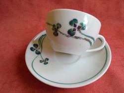 Zsolnay porcelán kávés csésze+alj