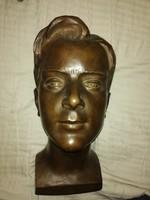 Antik bronz fej Jungfer Gyula alkotasa