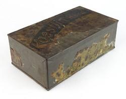 0T401 Antik Koestlin-keks kekszes pléh doboz