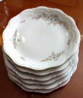 6 db süteményes porcelán tányér, Bavaria Schirnding