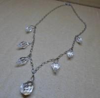 Szépen megőrzött antik ezüstözött nyakék