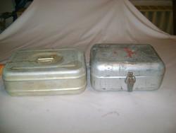 Retro ételes doboz, ételhordó és mentődoboz