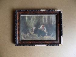 Antik nyomat üvegezett képkeret 24*31 cm