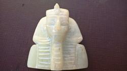 Egyiptomi faragott fáraó fej (Jade?)