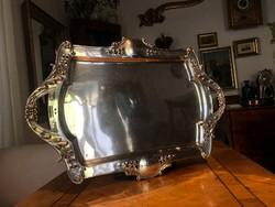 Impozáns Szecessziós Füles Ezüst tálca 61cm 1595g