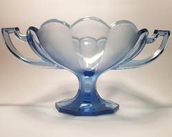 Antik préselt szecessziós üveg asztalközép