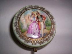 Régi francia porcelán szelence (161.)