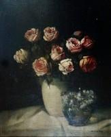Murin Vilmos: Csendélet rózsákkal