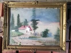 Festmény  37x47cm fa keretben