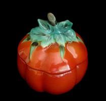 Régi jelzett Gobel majolika fajansz fűszertartó ritka
