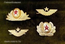 Szovjet katonai sapkajelvény 4 db.(eredeti)