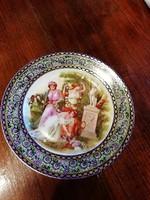 Altwien porcelán jelenetes süteményes tányér 15 cm
