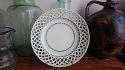 Áttört porcelán tányér, Alt wien 1824