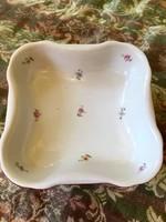 Antik Zsolnay virágos pajzspecsétes kínáló tál tányér az 1930 -as évekből