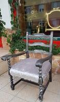 Provence ezüst-fekete karos szék