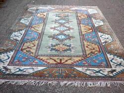 Ushak-Milas Vintage gyönyörű és különleges100% gyapjú kézi csomózású szőnyeg 305cm x 200cm
