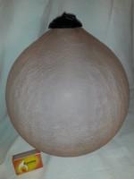 Körmérete 80 cm !!! Gigantikus méretű üveg karácsonyfa dísz gömb
