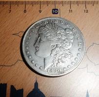 USA MORGAN EZÜST ONE DOLLAR 1880 CC