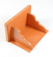 0T506 Régi narancssárga színű fenyő falipolc