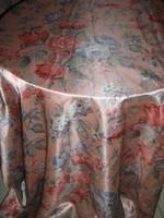Csodaszép színvilágú különleges vintage rózsás virágos selyem sötétítő függöny pár